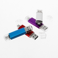Clé USB double port publicitaire