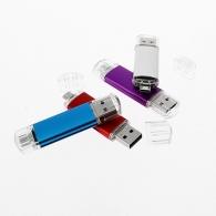 Clé USB double port avec logo