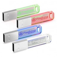 Clé usb personnalisable lumineuse iron crystal candy