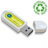 Recycled plastic USB flash drive