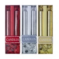 Coffret 2 bougies personnalisables pailletées avec bougeoir