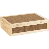 Caisse à vin en bois vide avec personnalisation