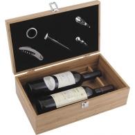 Caisse à vin en bois vide avec logo