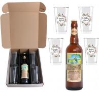 Coffret bière et verres - mange-soif