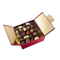 Ballotin et boîte de chocolats avec marquage