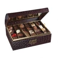 Coffret croco 48 chocolats publicitaires assortis