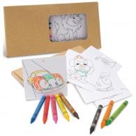 Coloriages avec crayons de cire