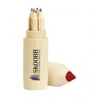 Boîte de 6 crayons en bois