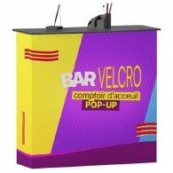 Comptoir publicitaire d'accueil - bar velcro