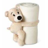 Couverture polaire publicitaire avec ours