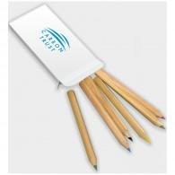 Lápices de color personalizables hechos de madera sostenible certificada