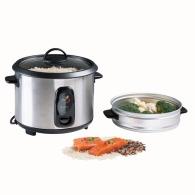 Cuiseur à riz et vapeur acier inoxydable