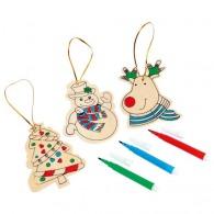 Décorations de sapin de Noël personnalisé