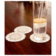 Dessous de verre publicitaire en tissu