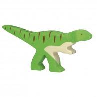 Dinosaure logoté en bois - allosaurus