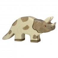 Dinosaure logoté en bois - triceratops