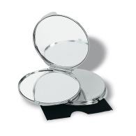 Double miroir personnalisé chromé
