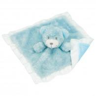 Doudou logoté ours (bleu clair)