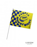 Drapeau personnalisable de supporter 21x15cm