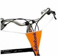 Drapeau logoté de vélo / bicyclette