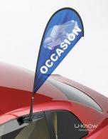 Mini drapeau personnalisé pour voiture