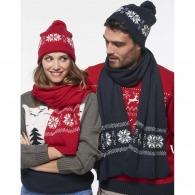Écharpe personnalisable tricotée flocons