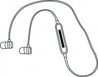 écouteurs bluetooth sans fil avec logo
