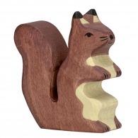 Ecureuil personnalisable assis en bois