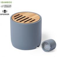 Altavoces de cemento 3W y bambú
