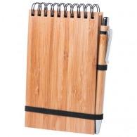 Ensemble bambou carnet personnalisable et stylo