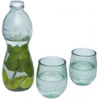 Juego de 3 piezas de vidrio reciclado