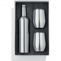 Ensemble isotherme bouteille et verres