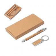 Ensemble liège stylo et porte-clés
