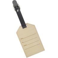 Étiquette a bagage en bois
