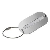 Etiquette de valise en aluminium