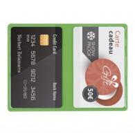 étuis pour cartes de crédit avec logo