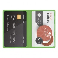 Etui logoté 2 cartes de crédit