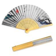 Éventail en bambou et papier