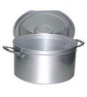 Faitout personnalisable bas 11 litres + couvercle anses alu aluminium 18/10e 15 cm ø 30 cm