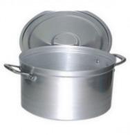 Faitout personnalisé bas 17 litres + couvercle anses alu aluminium 20/10e 18 cm ø 36 cm