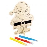 Figurines en bois à colorier