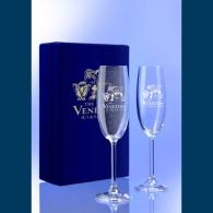 Flute à champagne personnalisable duo gravure laser