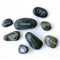 Galet logoté en pierre - petit format