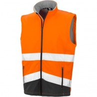 Gilet softshell high viz - Result