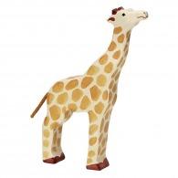 Girafe logotée en bois 21cm