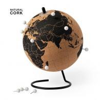 Globe terrestre logoté en liège