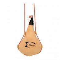 Gourde publicitaire souple cuir synthétique avec cordon pour eau ou vin - 1l