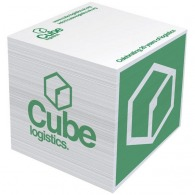Bloc-notes cubes avec logo
