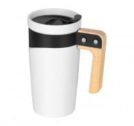 Grand mug personnalisé céramique de 45 cl avec anse en bois