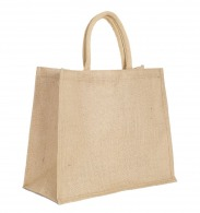 Grand sac personnalisable shopping en jute 43x34cm